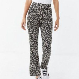 Urban Outfitters Casey Kick Flare Animal Pant High